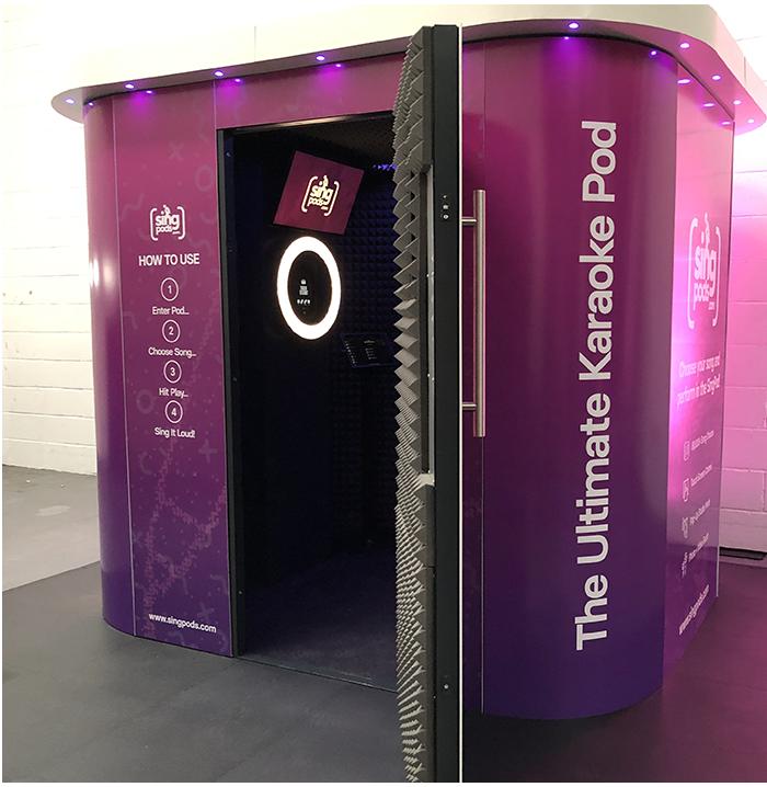 SingPod - Pop Up Karaoke Photo Booth Features 2